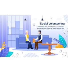 welfare volunteering and social work banner vector image