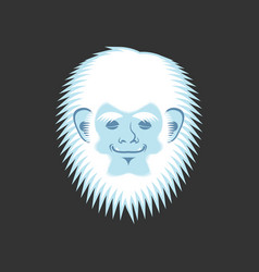 yeti sleeping emoji bigfoot asleep emotion face vector image