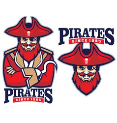 half body pirate mascot vector image
