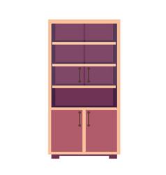 light wooden closet vector image