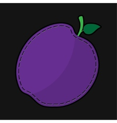 Seam violet plum with shadow vector