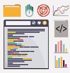 SEO design vector image
