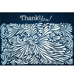 Thank you typographic card with ink floral vector image vector image