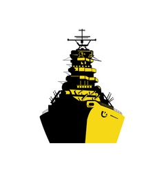World War Two Battleship Retro vector image vector image