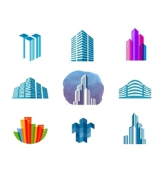 house logo design template city or vector image vector image