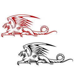 Medieval griffin monster vector image vector image