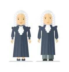 profession oldfashion judge vector image