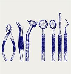 Set of medical tools vector