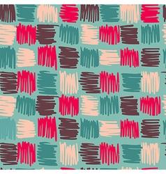 Boho geometry shape square pattern background vector image vector image