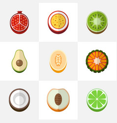 Set of 9 editable dessert icons includes symbols vector