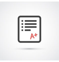 Test paper trendy flat icon vector image vector image