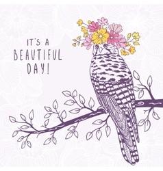 bird art sketch vector image