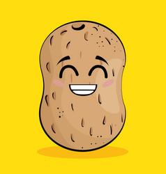 potato vegetable comic character vector image