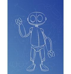 Robot Plans vector image