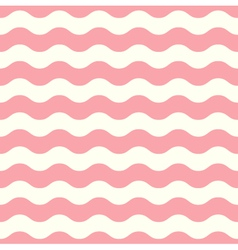 Wave retro seamless pattern pastel pink and white vector image vector image