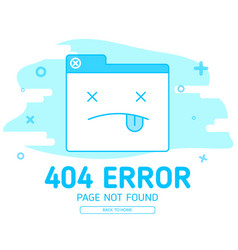 404 error with icon tab wedsite error vector