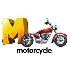 A letter M for motorcycle vector image