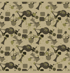 abstract camouflage seamless pattern texture vector image