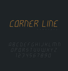 abstract linear font latin letters and numbers vector image