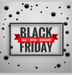 amazing black friday sale poster with black dots vector image