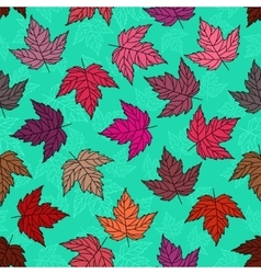 Autumn seamless leaf pattern 5 vector image
