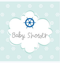 Baby shower invitation design vector