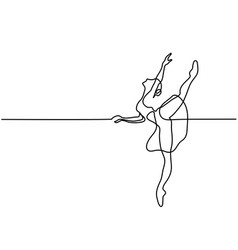 Ballet dancer ballerina vector