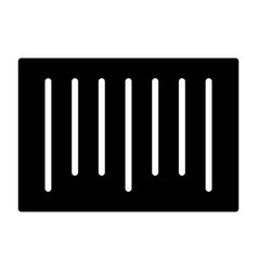 barcode silhouette icon 48x48 minimal pictogram vector image