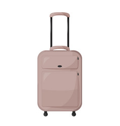 Beige suitcase large travelling bag vector