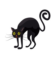 black cat holiday halloween character attribute vector image