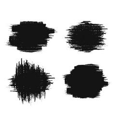 Brush strokes set paintbrush grunge design vector