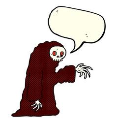 cartoon spooky halloween costume with speech vector image