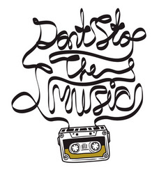 cassette tape music quote vector image