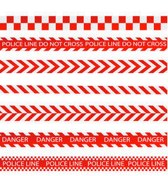 caution lines isolated warning tapes danger vector image