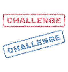 Challenge textile stamps vector