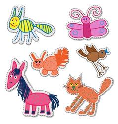 Children drawings vector