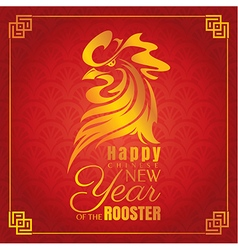 Chinese new year greeting card with rooster vector
