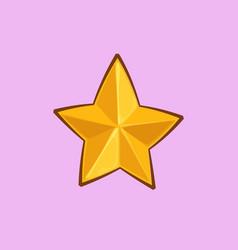 christmas cartoon icon - golden star vector image