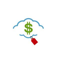 cloud shop logo vector image