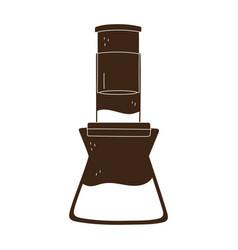 coffee brew method aeropress silhouette icon style vector image