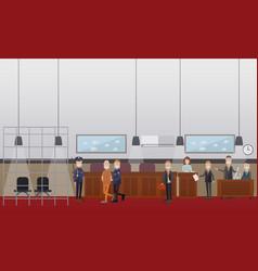 Court hearing concept flat vector