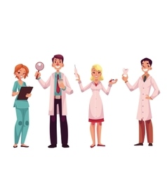 Doctors - nurse surgeon general practitioner and vector image