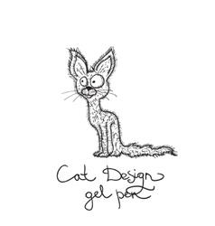 Drawing cat vector