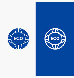 Environment global internet world eco line and vector