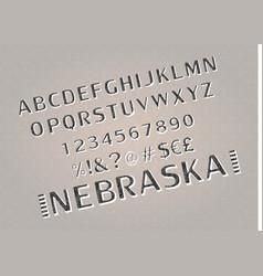 font alphabet script typeface vector image