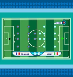 Football Soccer Playfield Top View vector image