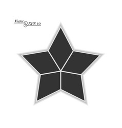 frame for photos and images in shape star vector image