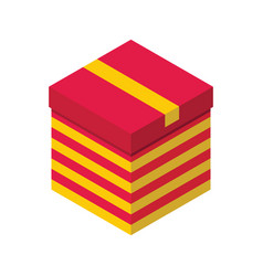 gift box 3d isometric isolated cardboard boxes vector image