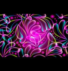 glowing modern paisley seamless pattern vector image
