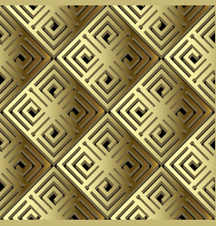 Greek 3d gold geometric seamless pattern surface vector